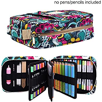 Amazon.com: Pencil Case Holder Slot - Holds 202 Colored ...