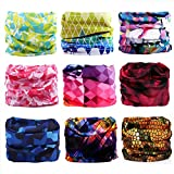 Godspeed Headwear, Headwrap 9-Pack Headband & Bandanna 16-in-1 Multifunctional Telescopic Seamless Scarf Facemask for Outdoor Leisure Activities (Floral)