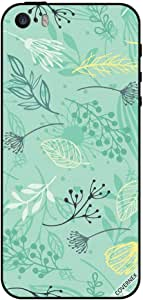 Cover For iPhone SESea Green Floral Pattern