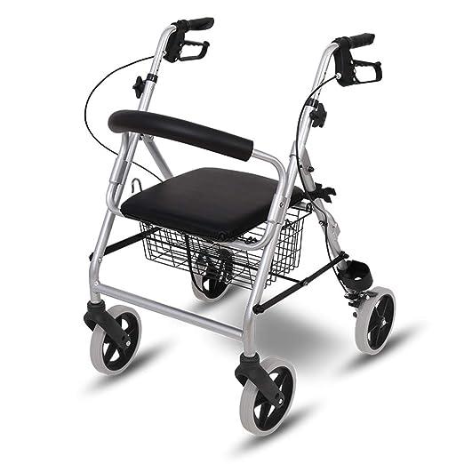 MYJZY Andador médico de Aluminio para Personas Mayores, Andador ...