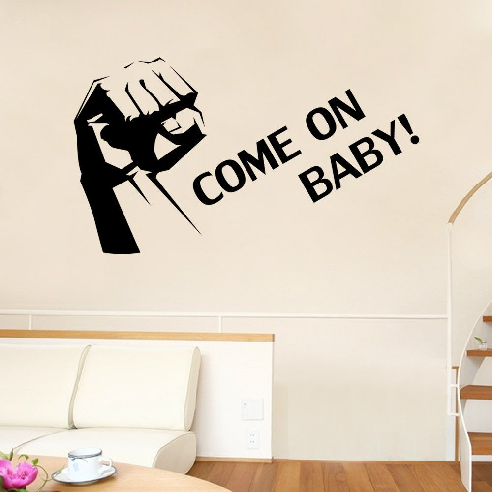 IndButy Wall Stickers English alphabet fist wall sticker 42×40cm