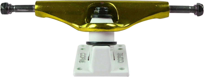 Premium Bushings Anodized Gold//White Base Core Skateboard Trucks 5.25 8.0