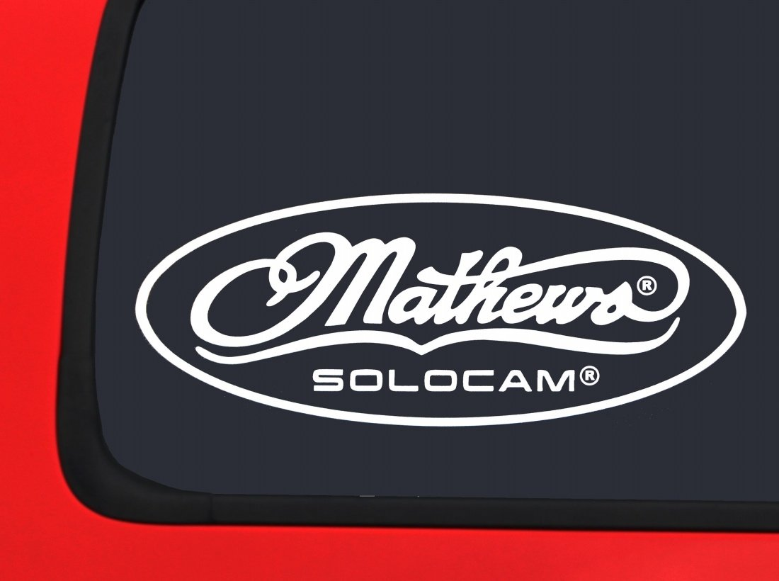Amazon com mathews solocam logod archery white hunting window decal sticker automotive