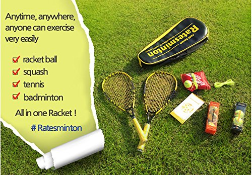 DNDmall Ratesminton Squash Starter Set ( Sports Outdoor RACQUETBALL TENNIS SQUASH BADMINTON This Equipment allows you to Exercise alone or with your Friend Sports Training Equipment) by DNDmall (Image #4)