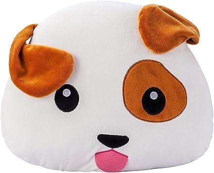 Puppy Emoji Chien Peluche Moelleux Housse Coussin 38x32x10cm Grand Souple Emoticone Oreiller Jouet Cadeau Pour Les Garcons Filles Enfants Amazon Fr Cuisine Maison