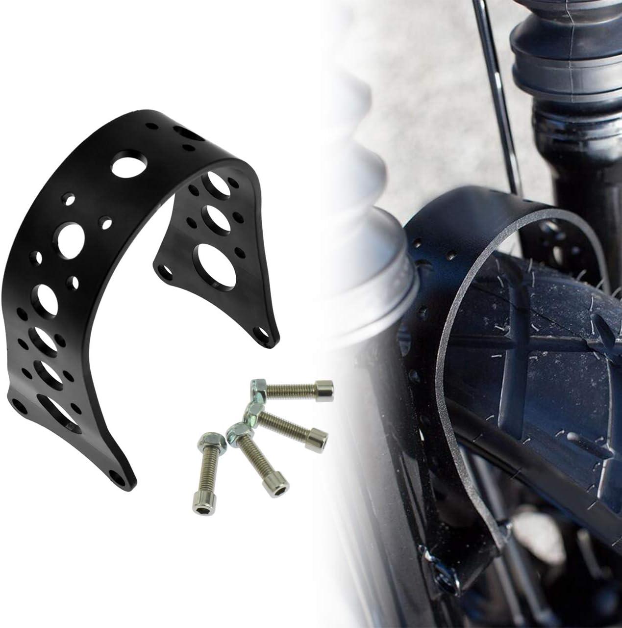 Motorcycle 39mm Tracker Front Fork Brace for Harley 88-17 Harley Dyna Sportster FXD XL,Matte Black Rebacker