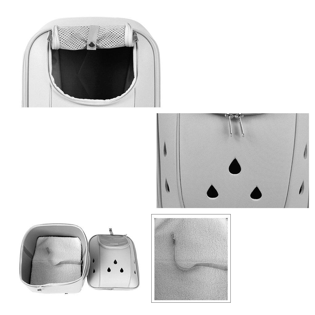 Tama/ño : S Mochila para Transportadores de Mascotas Gris Oscuro Bolso de Hombro Doble Transpirable C/ápsula Port/átil Parte Trasera Delantera de Malla Transpirable Backbag para Viajar 0~3kg