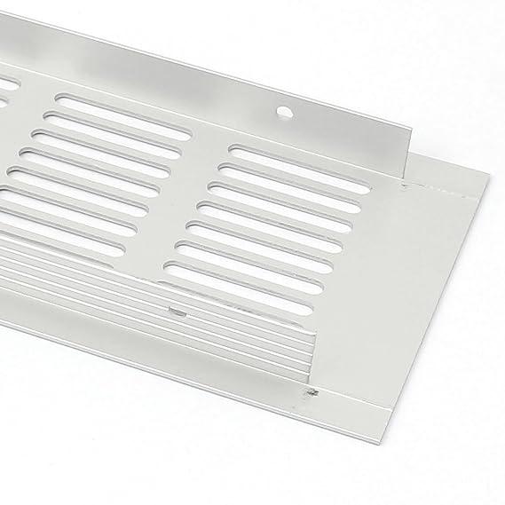 eDealMax Armario gabinete 225mmx80mmx15mm 4pcs aleación de aluminio Salida de aire Rejilla de ventilación - - Amazon.com