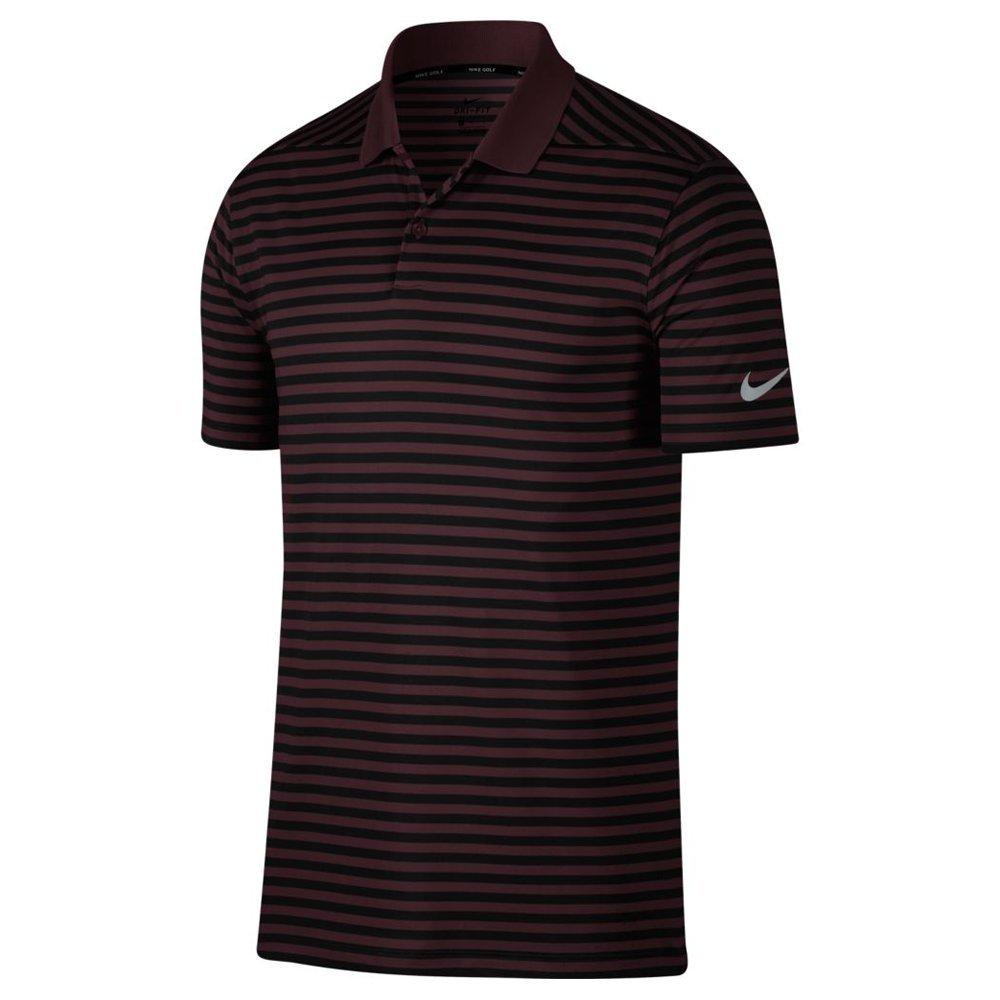 Nike New DRI FIT Victory Stripe Golf Polo Burgundy Crush/Black Small by Nike (Image #1)