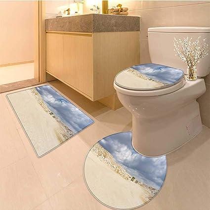 Amazon.com: Miki Da 3 Piece Toilet mat set limestone mining open pit ...