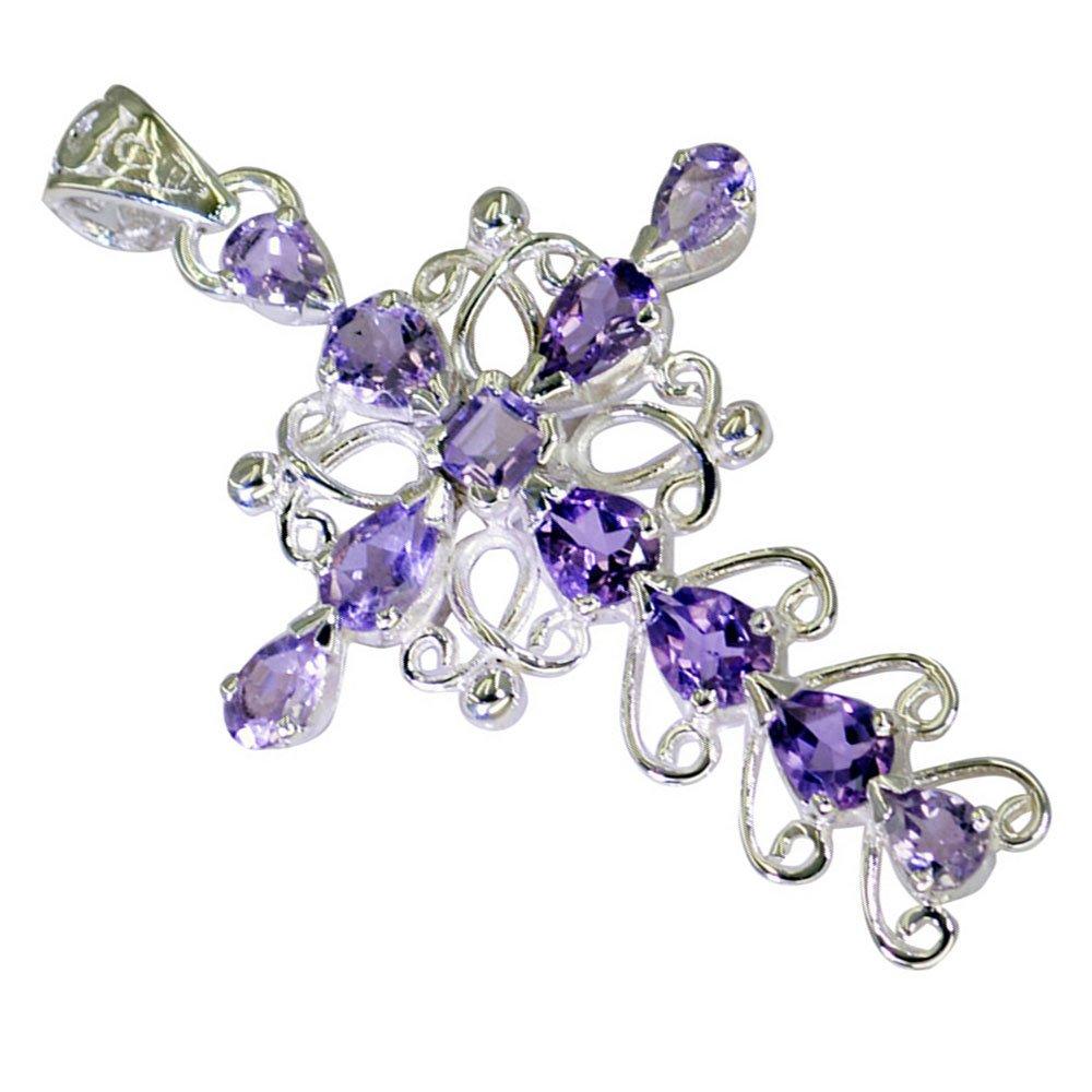 Natural Amethyst For Women Sterling Silver Handmade Birthstone Pendant Chakra Healing Handmade Necklace