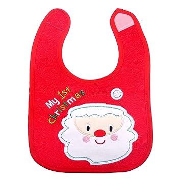 Yeahibaby Baberos Impermeables De Navidad Para Bebes Con Deseos