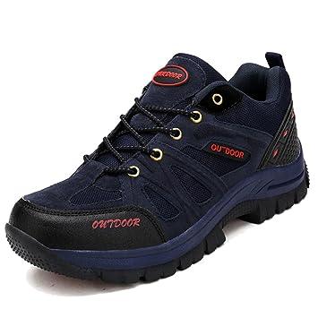 MERRYHE Zapatos De Escalada Al Aire Libre para Hombres Zapatillas De Marcha Nórdica Zapatillas De Montaña De Gran Tamaño Senderismo Trekking Calzado: ...