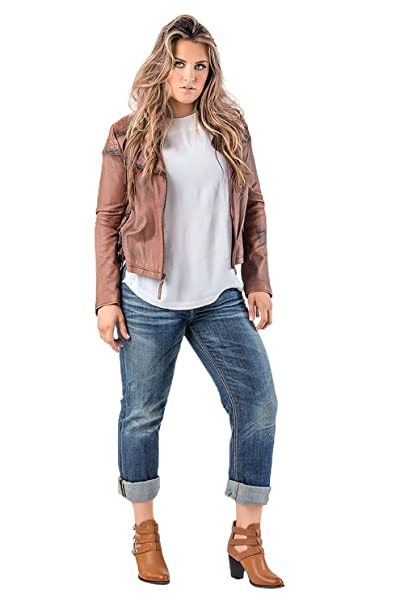 unequal in performance detailed look retail prices Standards & Practices Plus Size Women's Stretch Whisker Boyfriend Premium  Jeans