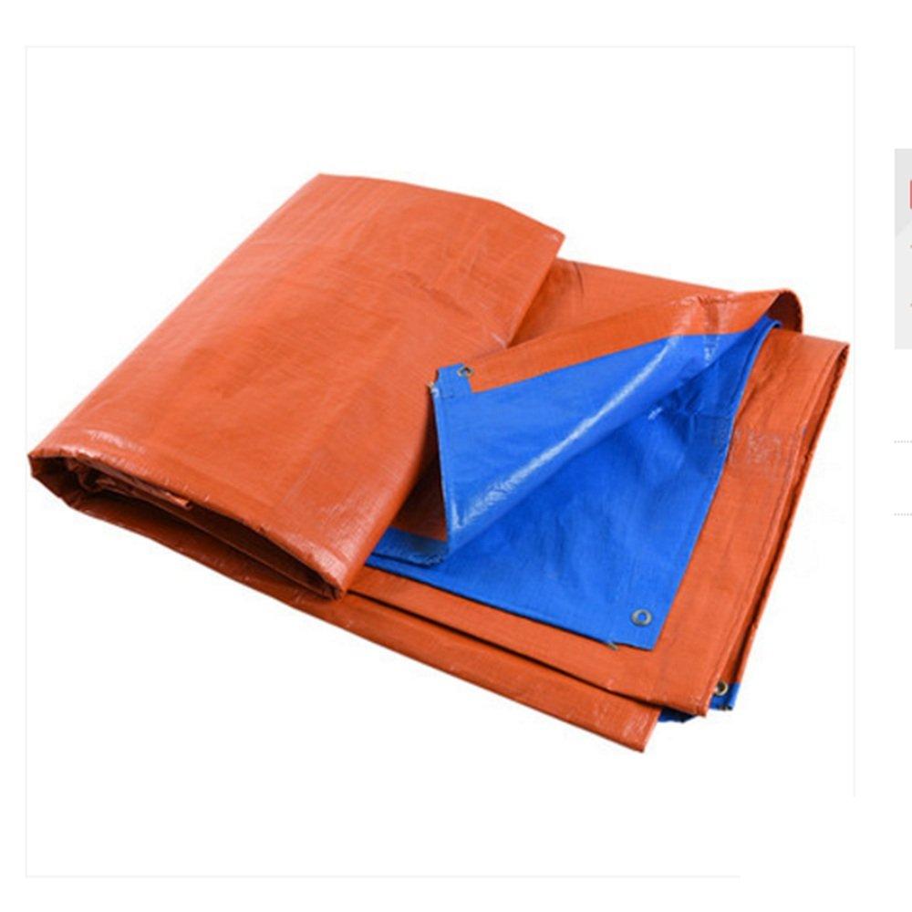 AINIYF Tenda ad Alta Resistenza Addensare PE a Prova di Pioggia Scompartimento di Camion Tenda da Cantiere Tenda di Stoffa All'aperto Bicolore Arancione e Blu (Dimensioni   3  4m)