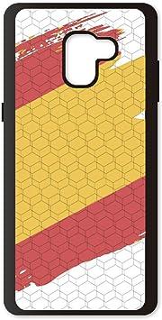 PHONECASES3D Funda móvil Compatible con Samsung Galaxy A7/A8 Plus 2018 España Bandera. Carcasa de TPU de Alta protección. Funda Antideslizante, Anti choques y caídas.: Amazon.es: Electrónica