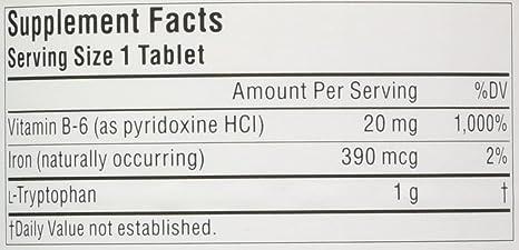 Amazon.com: Source Naturals L-Triptófano Tablet con Vitamina ...