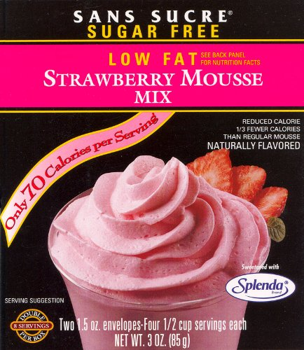Strawberry Pudding - Sans Sucre Mousse Mix Gluten Free, Strawberry