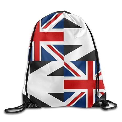 Kathleen bandera de Reino Unido impreso fresco cara sonriente emoticono suave Casual mochila escolar libro bolsas