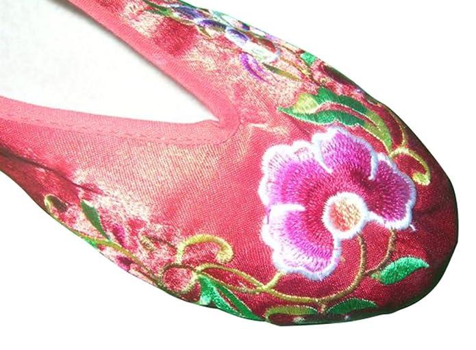 Zapatos de Mujeres Bordados Hechos a Mano de Estilo Chino y Oriental Elegante #151 5kFpQvGOB