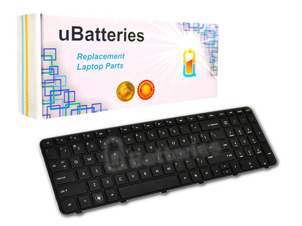 UBatteries Compatible Laptop Keyboard Replacement For HP Pavilion G6-2000 699497-001 700271-001 697452-001 673613-001 2B-04801Q121 R36 681800-001 LKB-HC34BF (Black, With Frame, Small Enter Key Style)