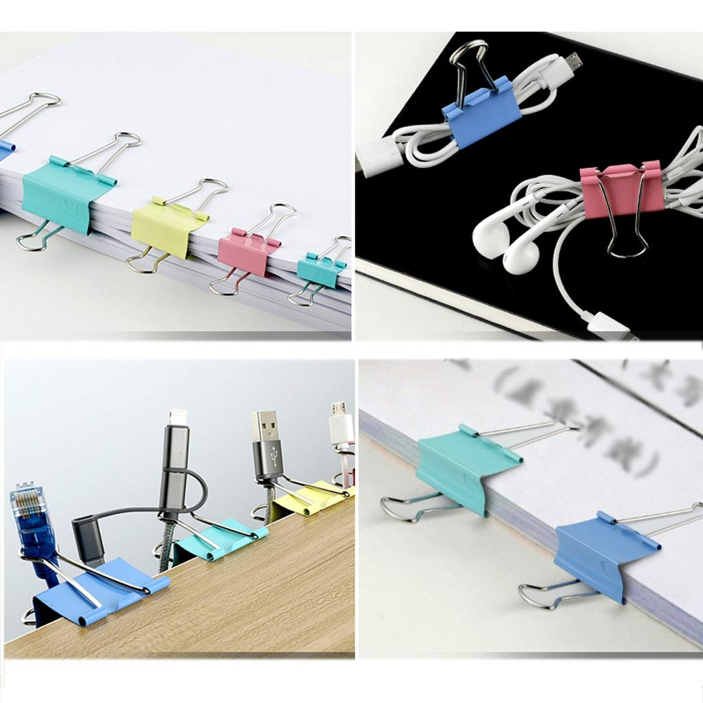 Color : Multicolor, Size : 15MM Long Tail Clip File Clip Large Size Long Tail Clip Ticket Holder Office Stationery