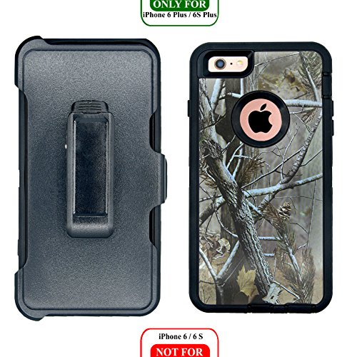 AlphaCell Cover compatible with iPhone 6 Plus/6S Plus (ONLY) | 2-in-1 Screen Protector & Holster Case | Full Body Military Grade Protection with Carrying Belt Clip | Shock-proof Protective