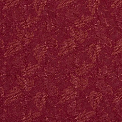 (F708 Burgundy Red Leaf Floral Heavy Duty Crypton Commercial Grade Upholstery Fabric By The Yard)