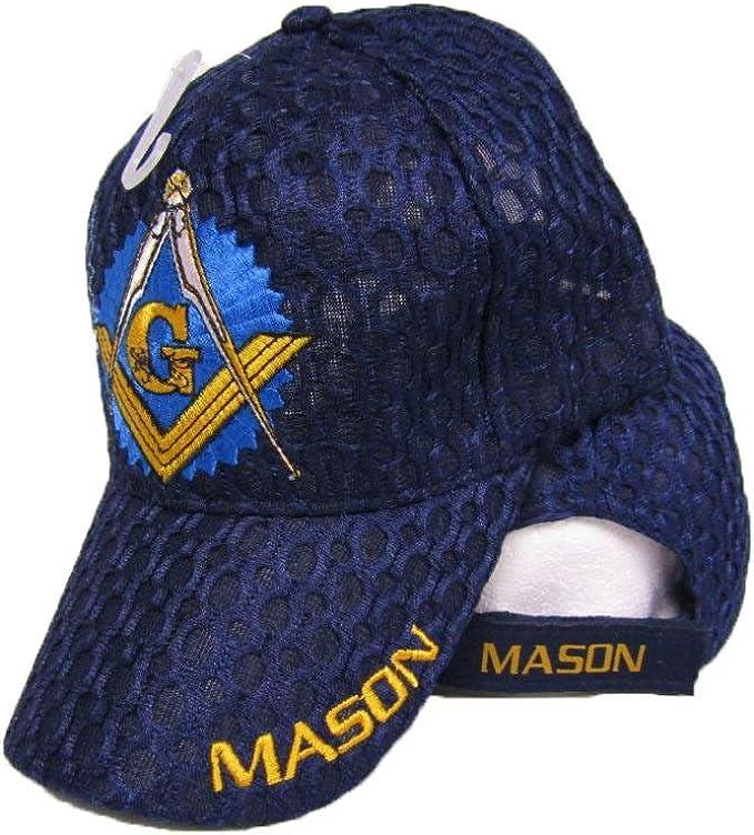Embroidered Mason Patch Baseball Cap AffinityAddOns Masonic Symbol Hat