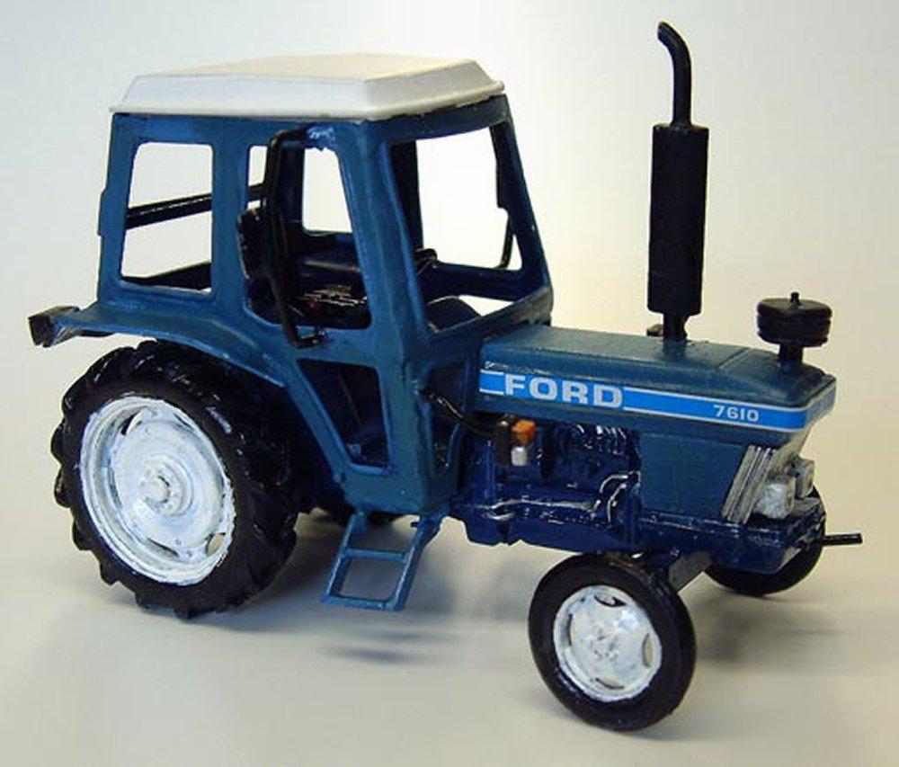 Langley Models Tracteur Cabine de Ford 7610 « Q » O échelle Non Peint métal modèle Kit M17
