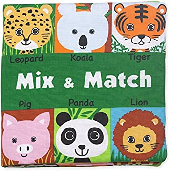 Melissa & Doug Soft Activity Baby Book - Mix and Match