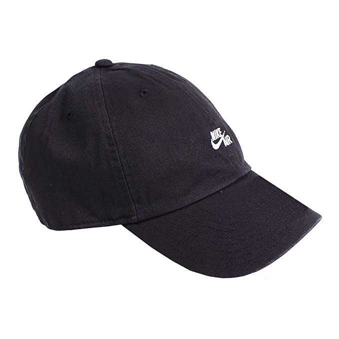 e7eeb25d96b Amazon.com  Nike Unisex Air H86 Adjustable Closure Hat Black White ...
