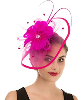 cfaf9b248 Z&X Fascinator Clip Headband Cocktail Derby Party Feather Floral ...