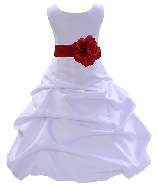 Amazon.com: Boda blanco vestido de niña de flores bebé dama ...