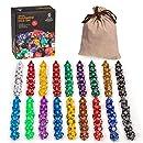 126 Polyhedral Dice - 18 colors with Complete set of D4, D6, D8, D10, D12, D20, D%