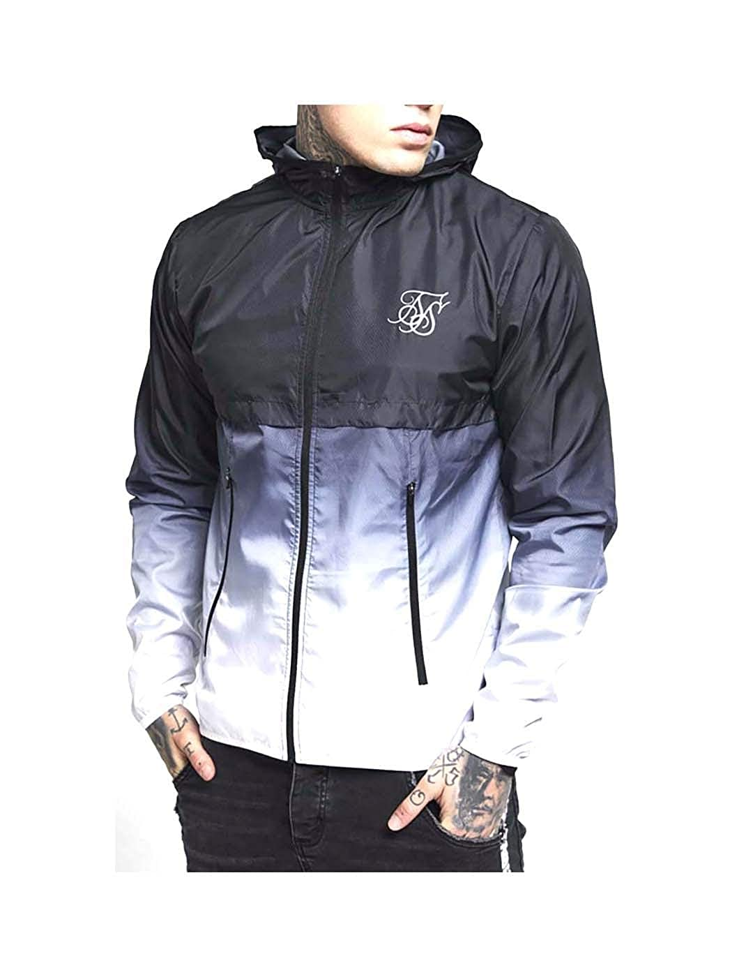 Chaqueta Siksilk Windrunner Black & White L