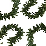"""9' x 10"""" Pre-Lit Battery Operated Pine Christmas Garland - Warm Clear LED Lights"""