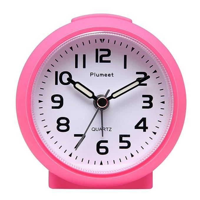 44 opinioni per Piccolo orologio, Plumeet Sveglia da viaggio senza ticchettio, con snooze e