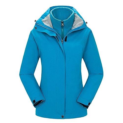 Zhhlaixing Calidad Alta Womens Twinset Jacket Water-Proof Hardshell Walking Hiking Quick Drying Coat...
