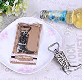 ''Just Hitched'' Cowboy Boot Bottle Opener For Wedding Party Favor Gift, Set of 150