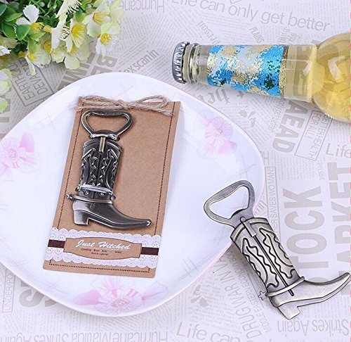 ''Just Hitched'' Cowboy Boot Bottle Opener For Wedding Party Favor Gift, Set of 150 by cute rabbit
