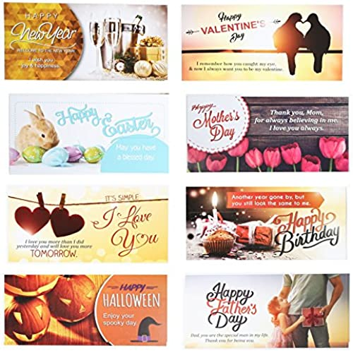 10 Greeting Cards and Matching Envelopes for Happy Birthday, Halloween and more. Sales