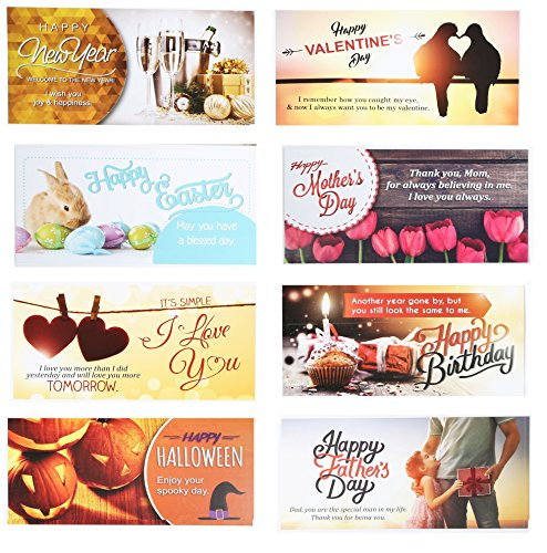 10 Greeting Cards and Matching Envelopes for Happy