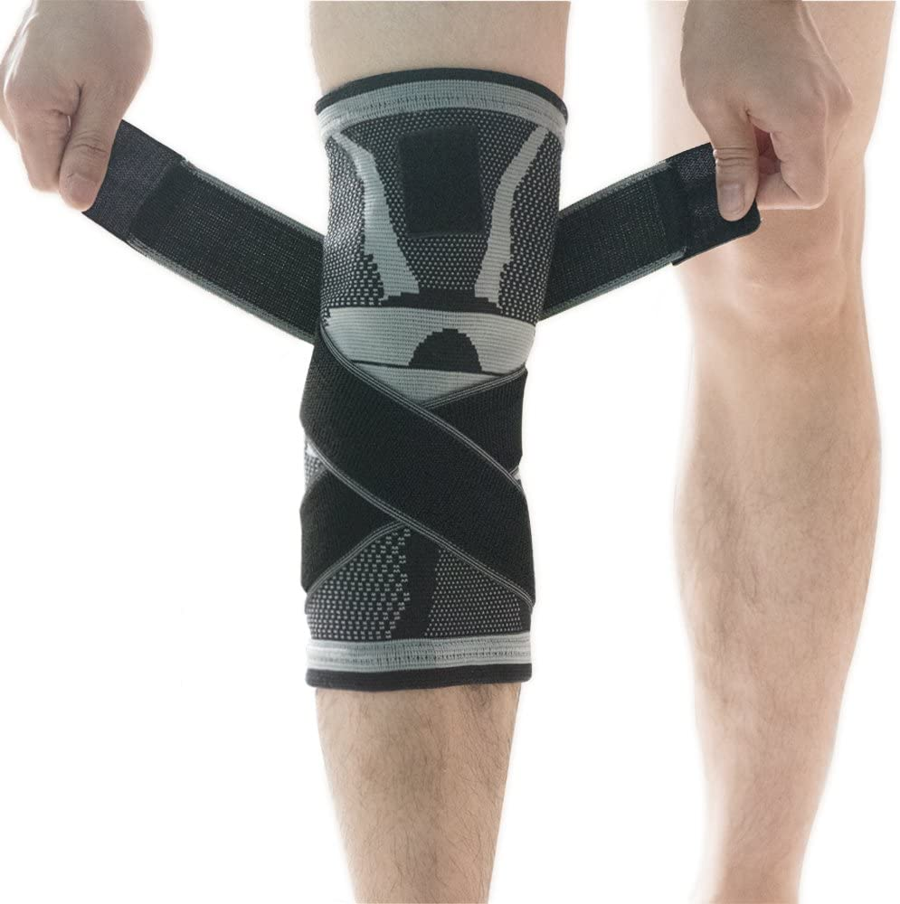 U-pick Rodillera, rodillera de compresión funda con antideslizante ajustable correa de presión, rodilla Protector Rótula alivio del dolor artritis y lesiones recovery- únic