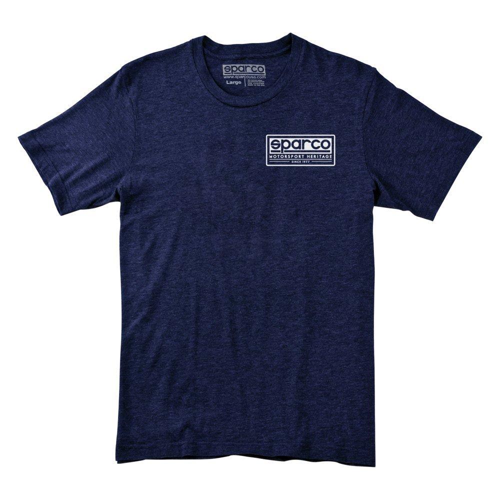 Sparco SP02350BM4XL T-Shirt Heritage Tri NVY XL