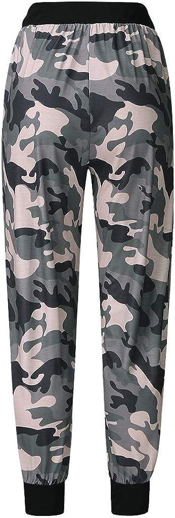 Haxikocty Women Sweatpants Ladies Summer Striped Wide Leg High Waist Pants Casual Long Trousers