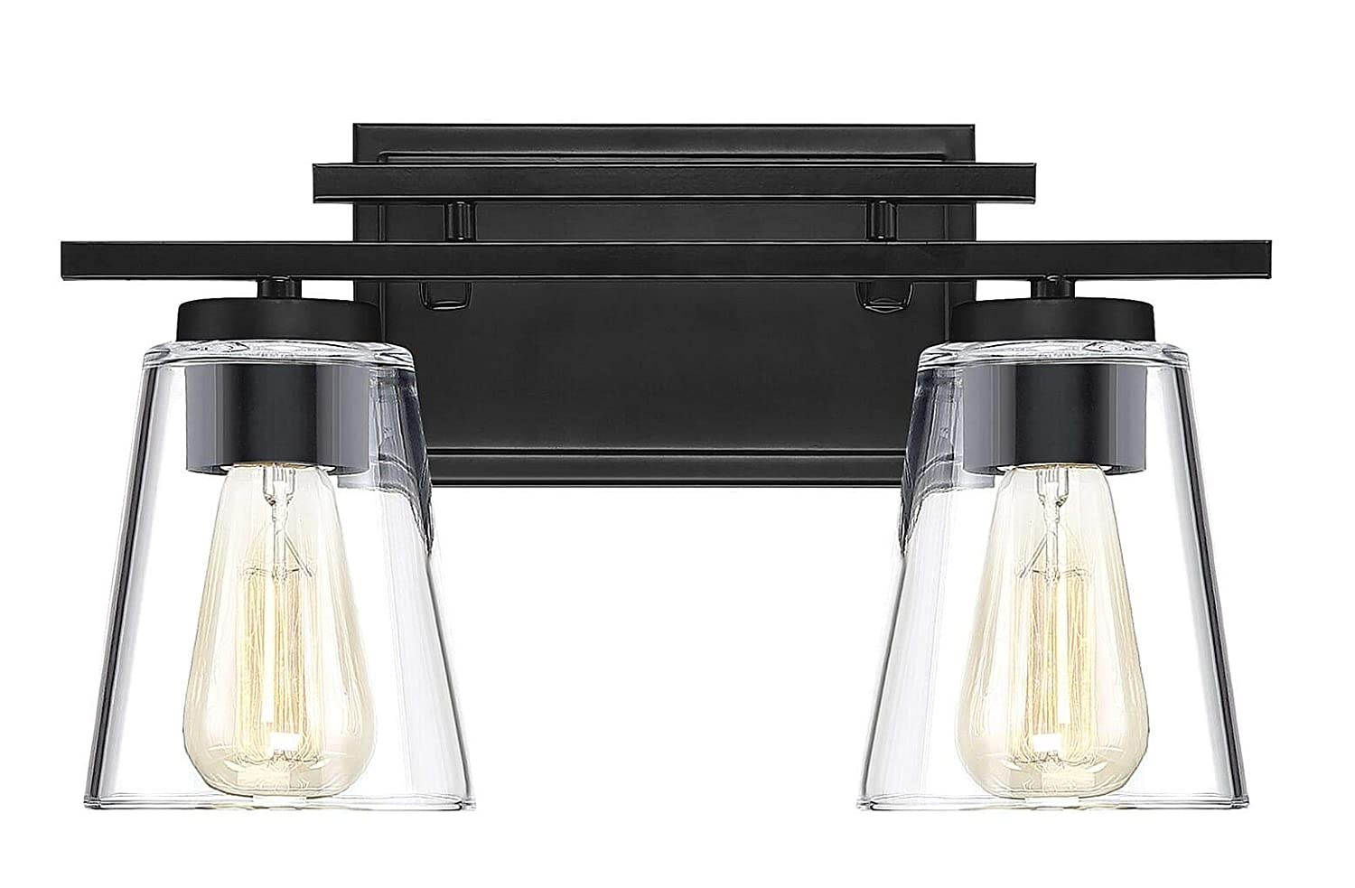Savoy House 8-1020-2-BK Calhoun Vanity, 2-Light Total 240 Watts, Black