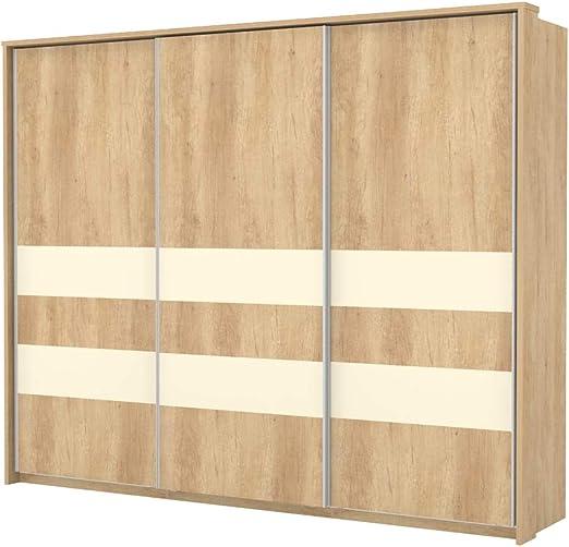 armario armario de puertas correderas Lepa 02, color: roble marrón/crema – Dimensiones: 225 x 278 x 64 cm (H x B x T): Amazon.es: Bricolaje y herramientas