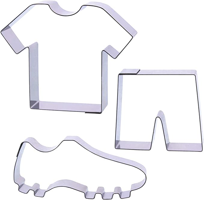 Der-Ideen-Shop La Tienda de Ideas 1 para Galletas, diseño de fútbol, Camiseta, Pantalones Cortos, Fútbol Guantes: Amazon.es: Juguetes y juegos