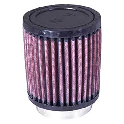 K&N Universal Clamp-On Air Filter: High Performance, Premium, Washable, Replacement Engine Filter: Flange Diameter: 2.25 In, Filter Height: 4 In, Flange Length: 0.625 In, Shape: Round, RU-0600: Automotive